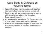 case study 1 citigroup on valueline format