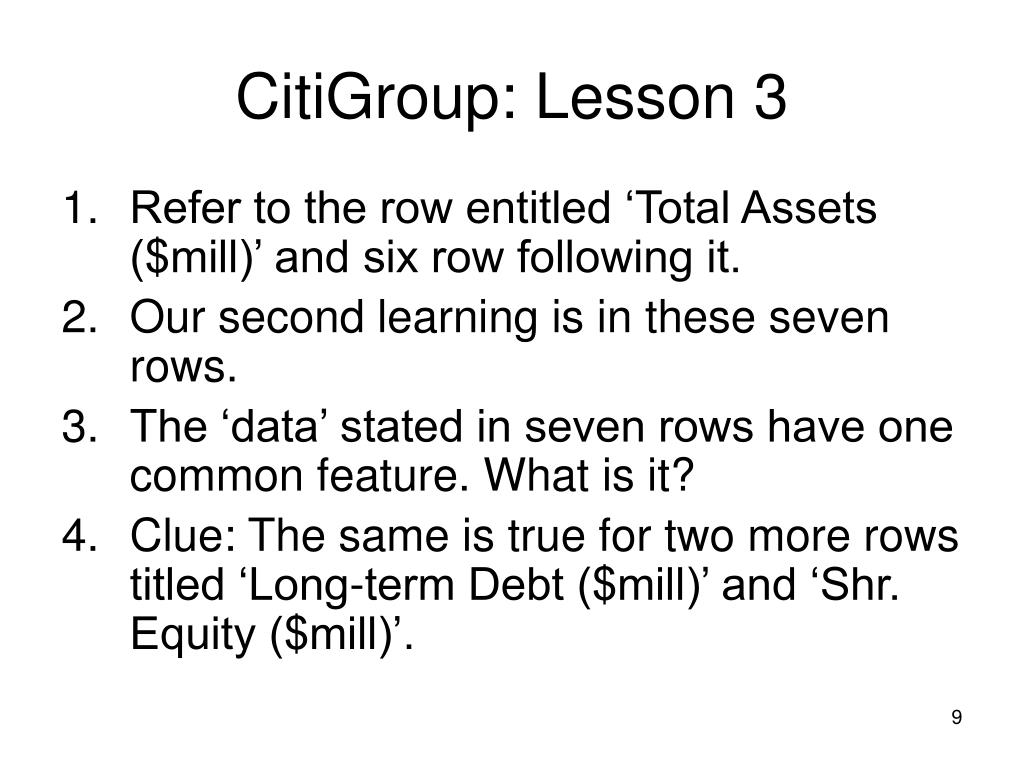 CitiGroup: Lesson 3