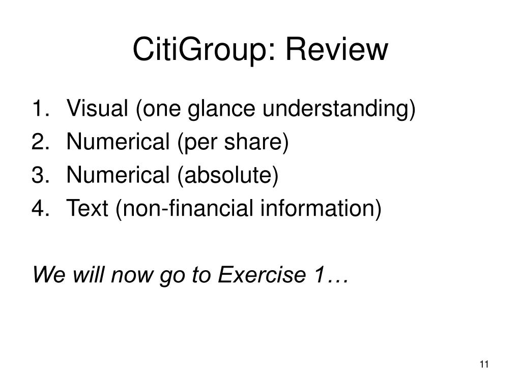CitiGroup: Review