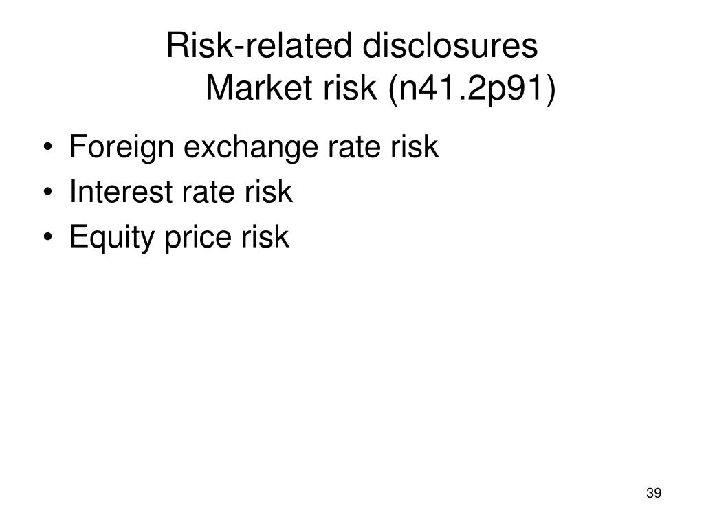 Risk-related disclosures