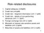 risk related disclosures