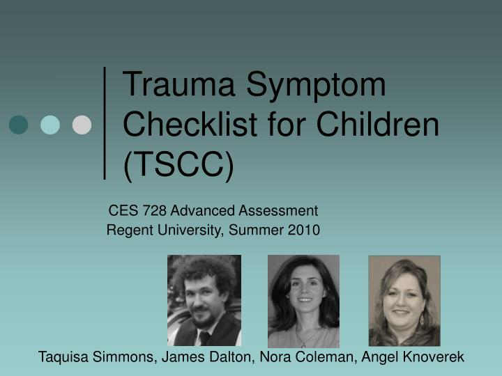 Trauma symptom checklist for children tscc