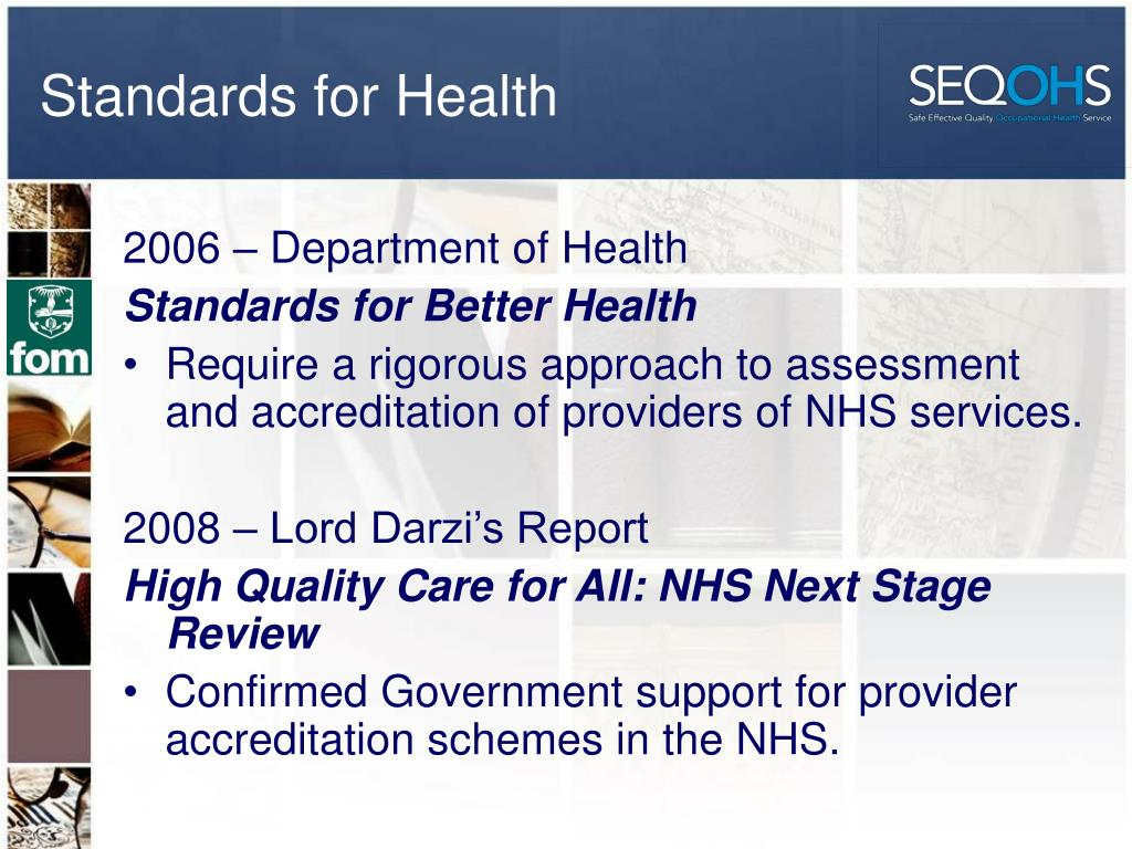 Standards for Health