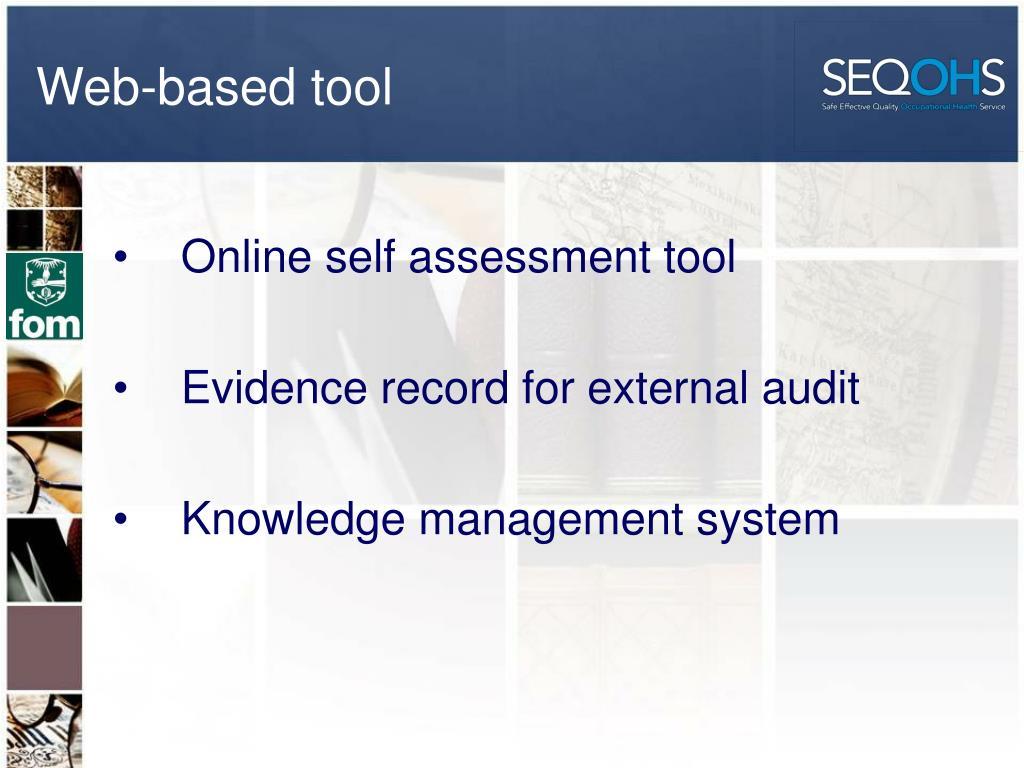 Web-based tool