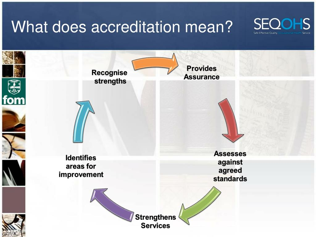 What does accreditation mean?
