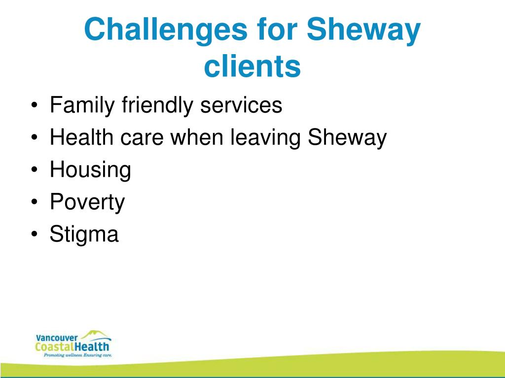 Challenges for Sheway clients