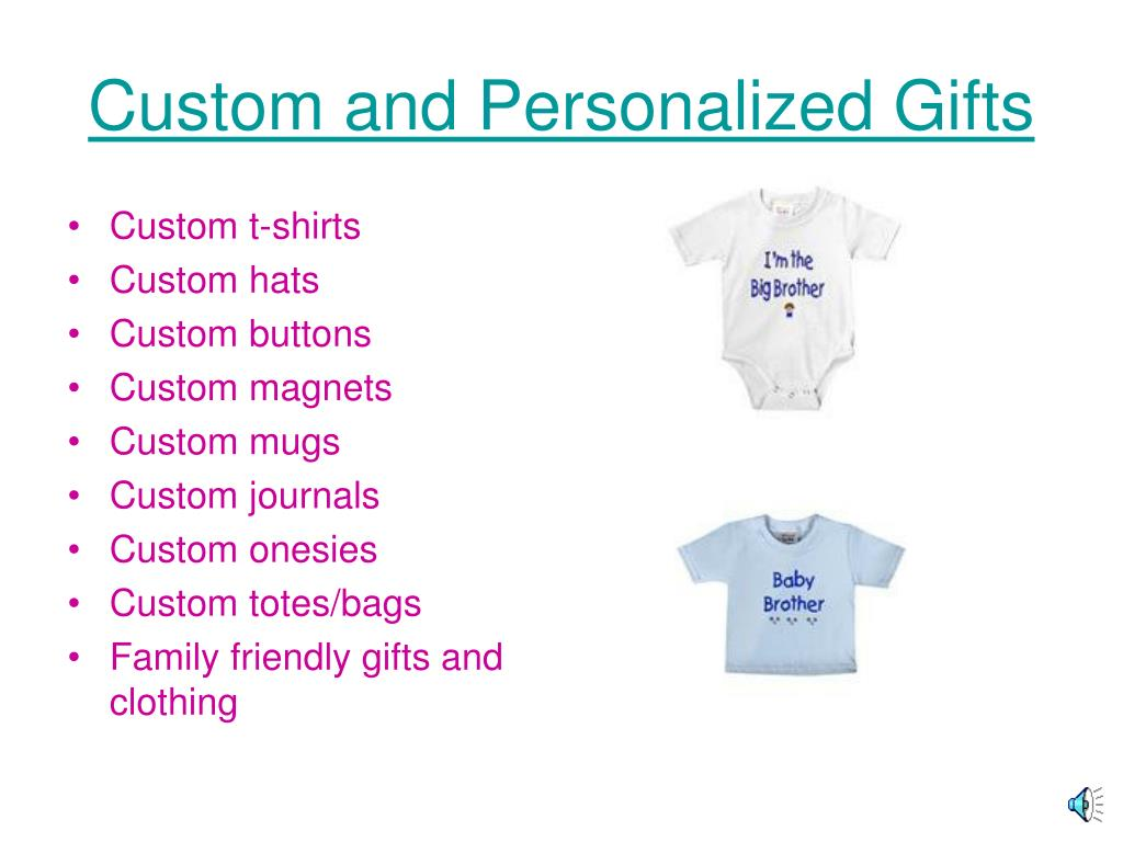Custom and Personalized Gifts