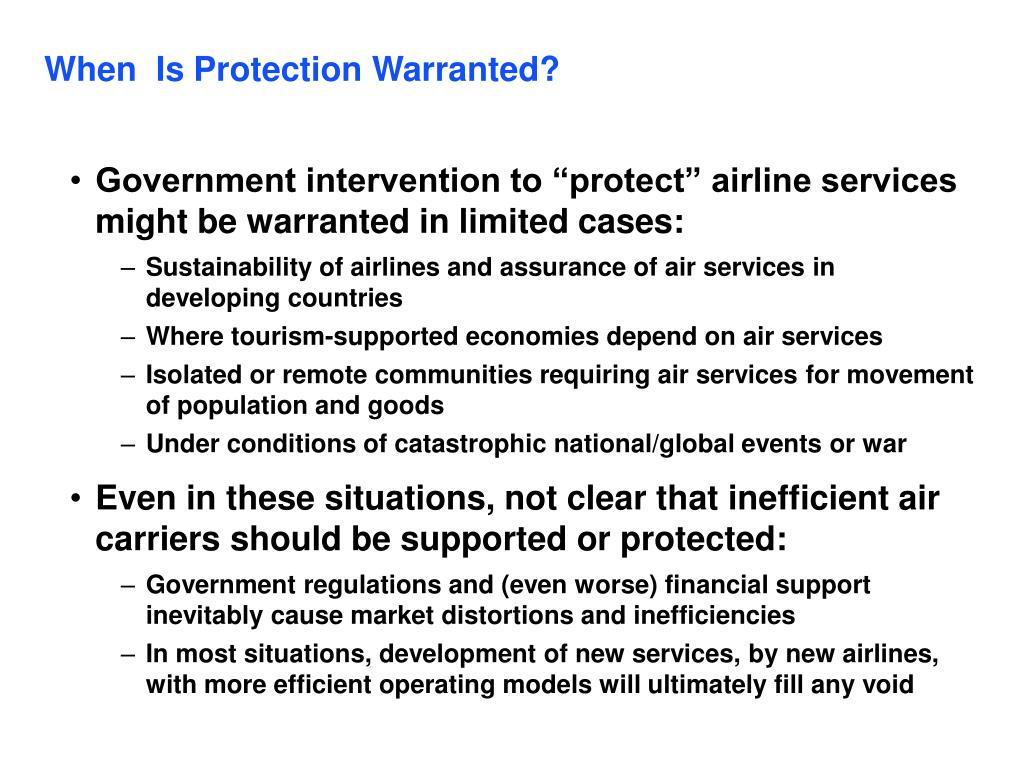 When  Is Protection Warranted?