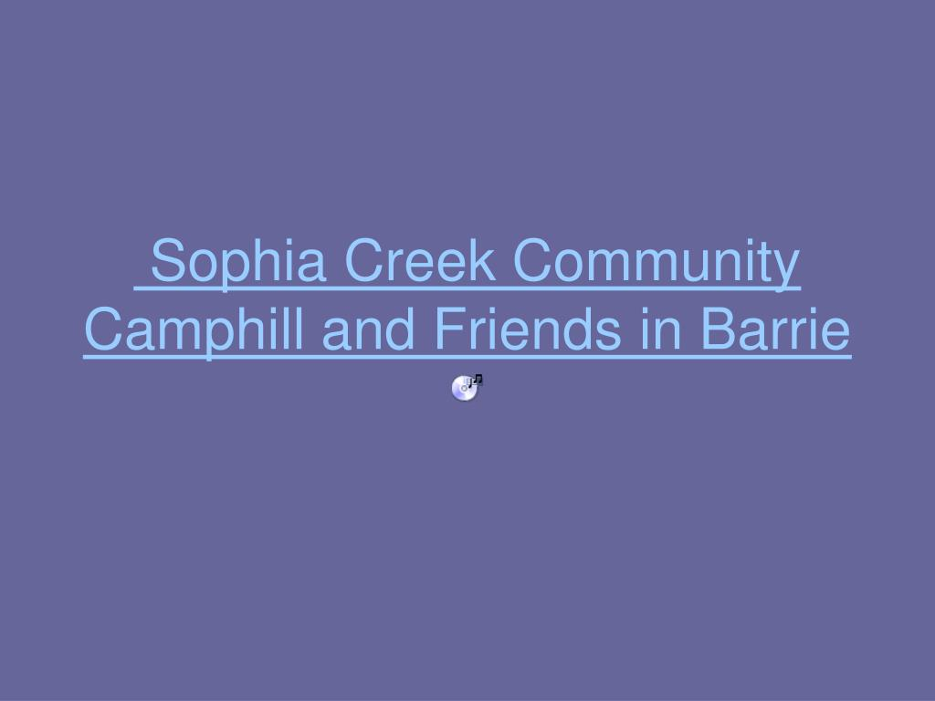 Sophia Creek