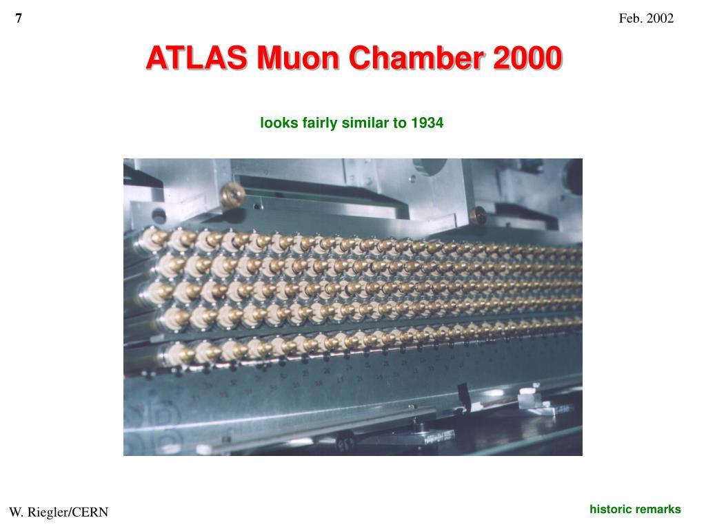 ATLAS Muon Chamber 2000