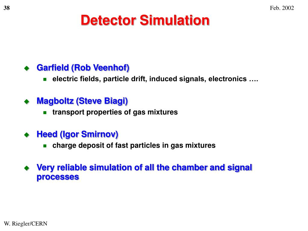 Detector Simulation