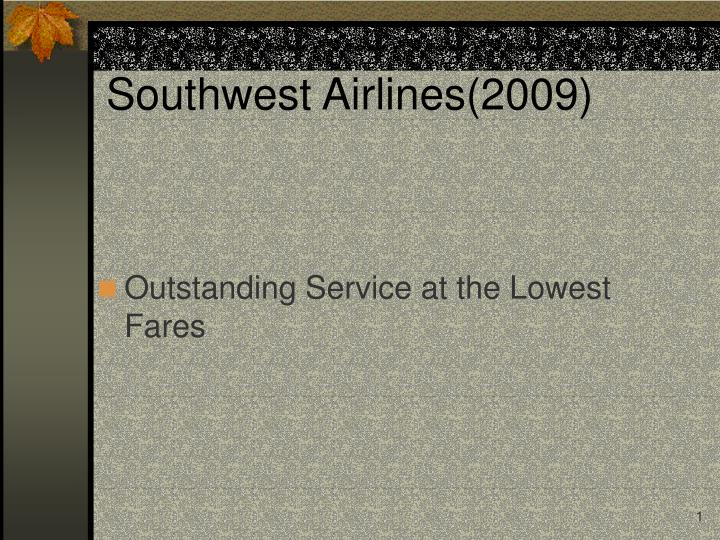 Southwest airlines 2009