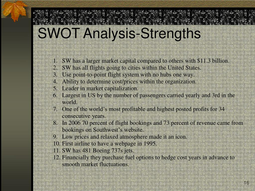 SWOT Analysis-Strengths