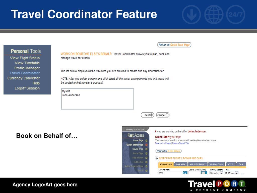 Travel Coordinator Feature