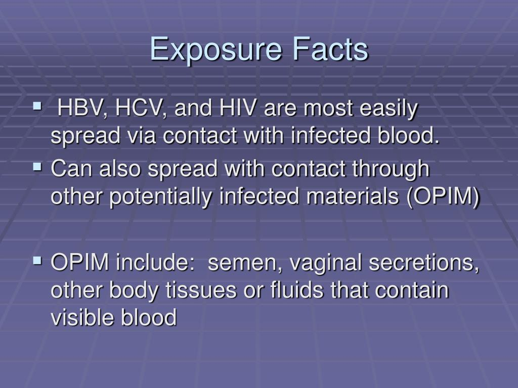 Exposure Facts