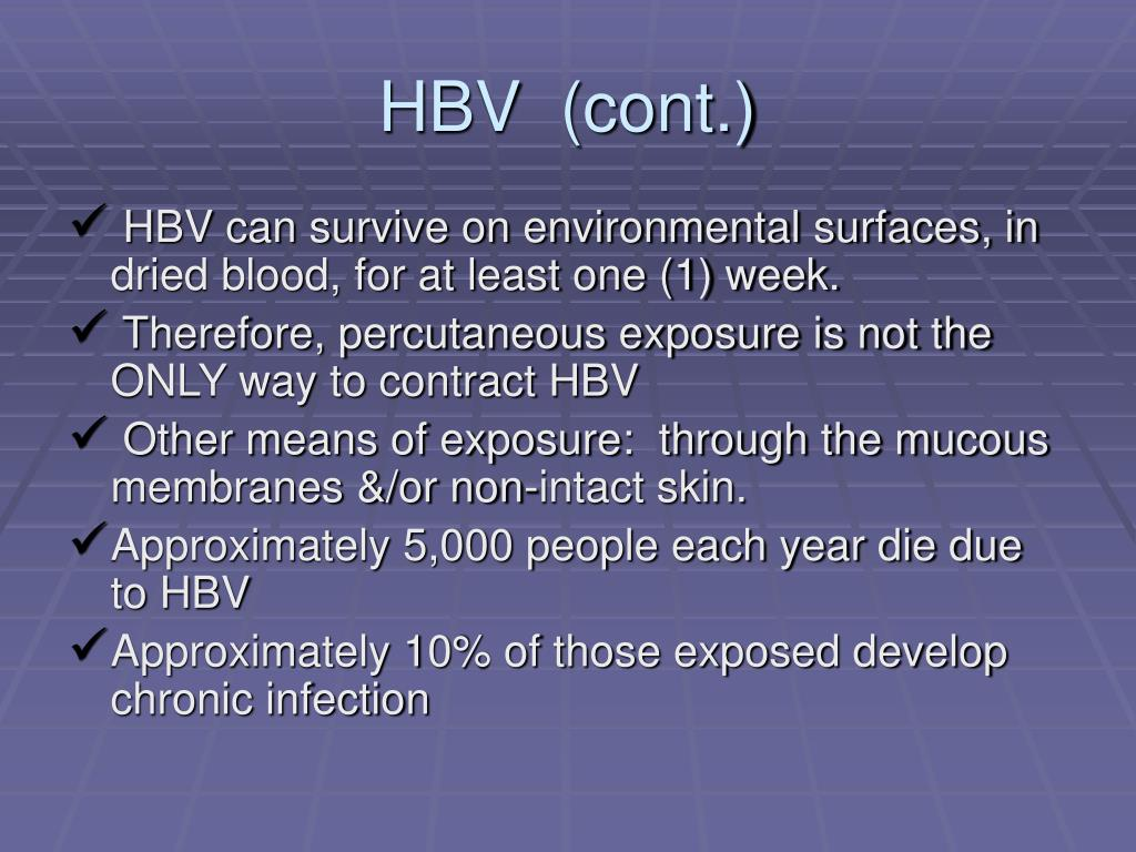 HBV  (cont.)