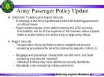army passenger policy update32