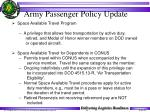 army passenger policy update33