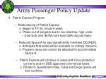 army passenger policy update34
