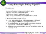 army passenger policy update37