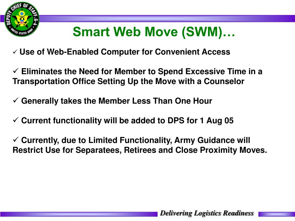 Smart Web Move (SWM)…