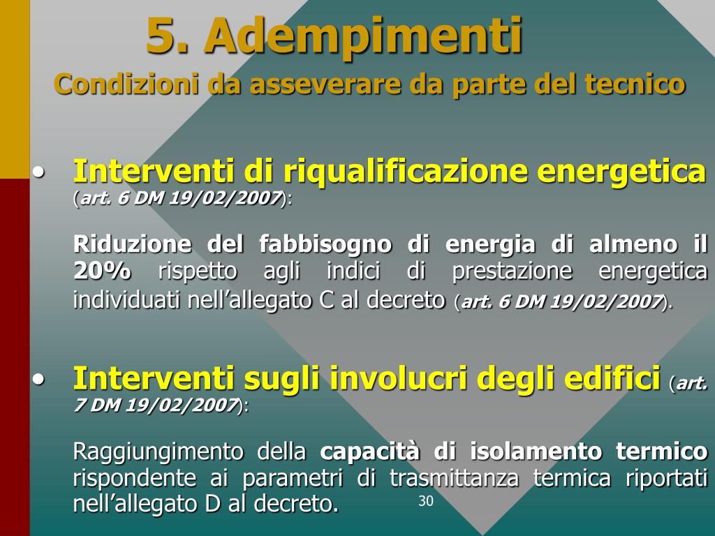 5. Adempimenti