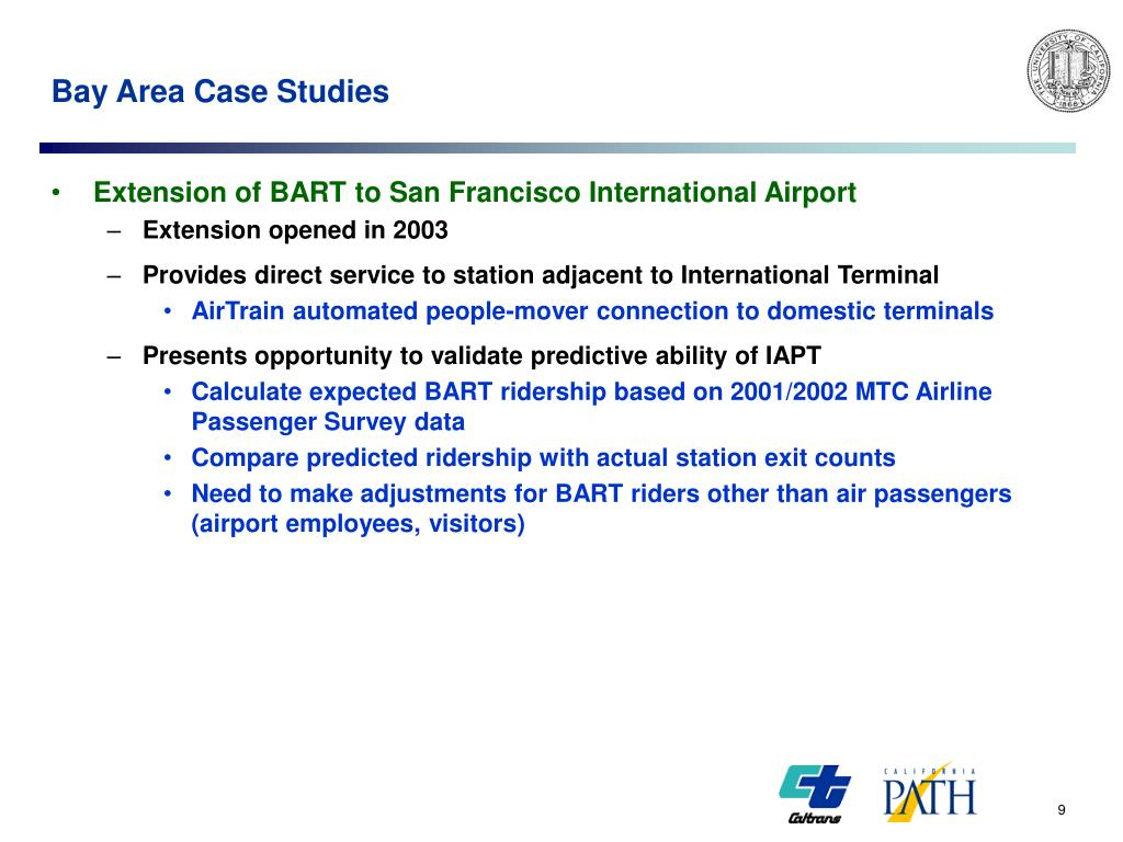 Bay Area Case Studies
