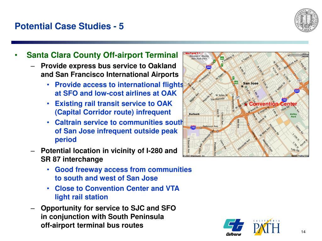 Potential Case Studies - 5