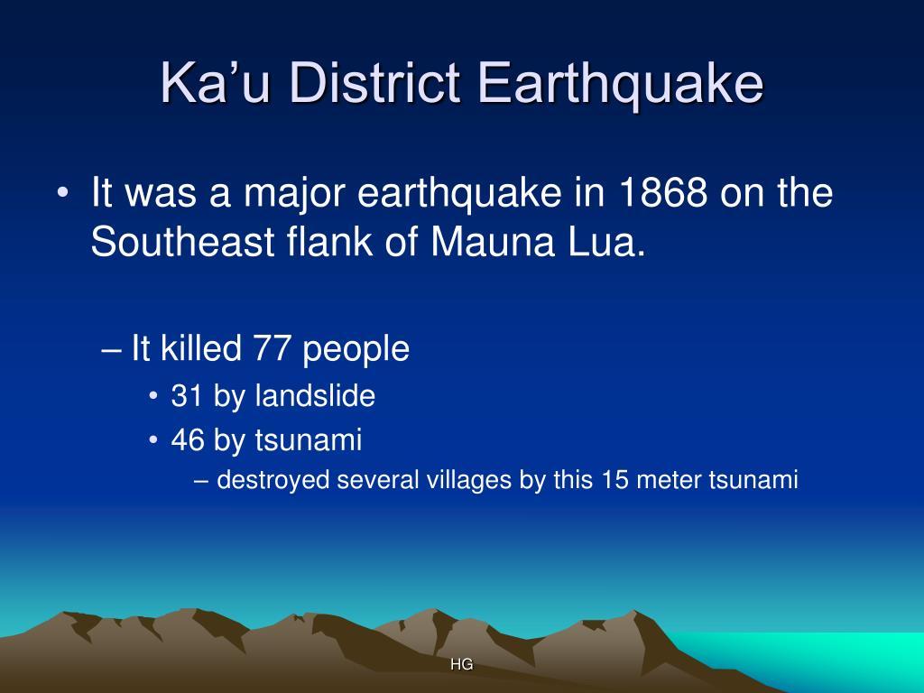 Ka'u District Earthquake