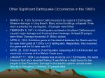 other significant earthquake occurrences in the 1900 s