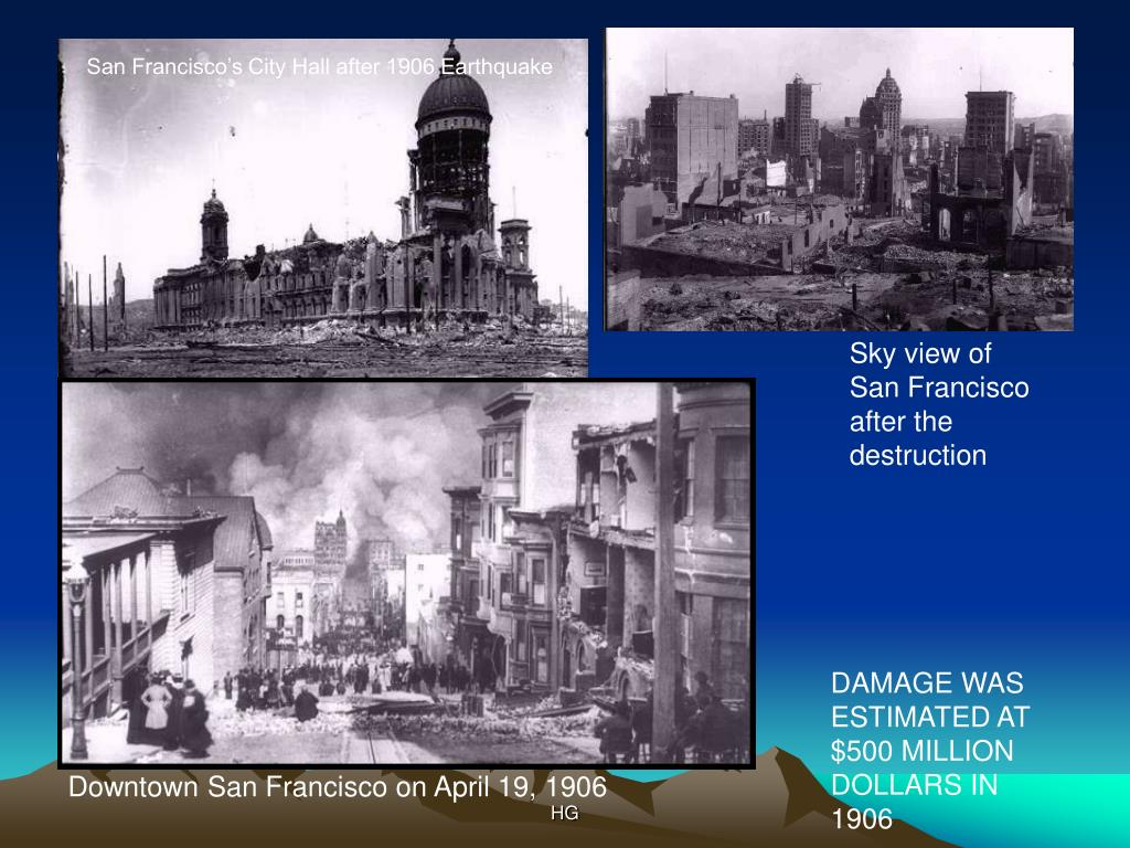 San Francisco's City Hall after 1906 Earthquake