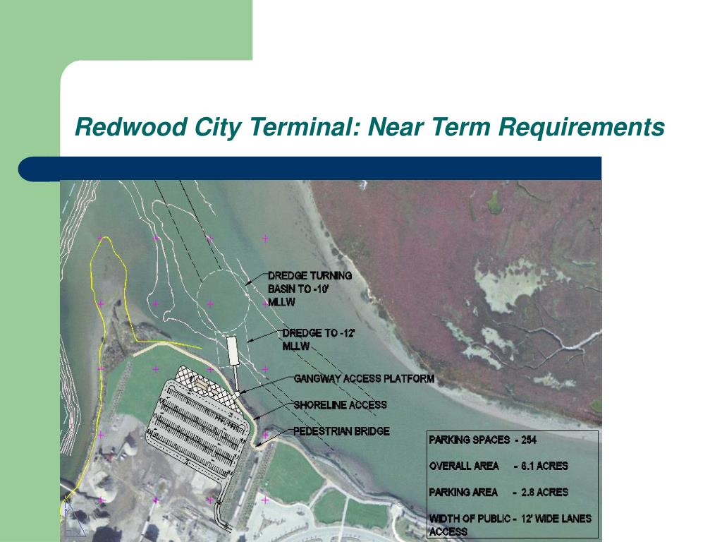 Redwood City Terminal: Near Term Requirements