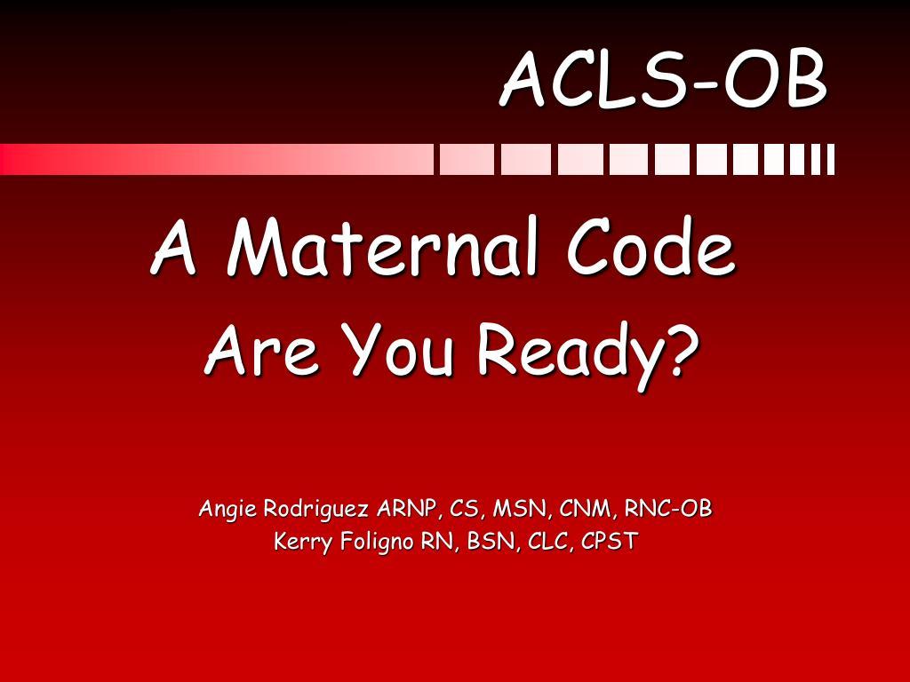 ACLS-OB