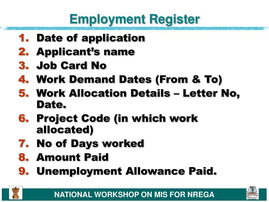 Employment Register