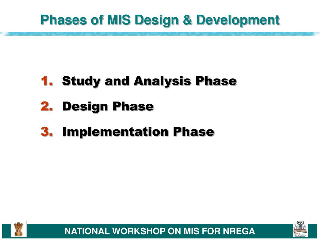 Phases of MIS Design & Development