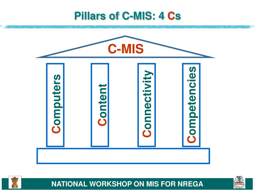 Pillars of C-MIS: 4