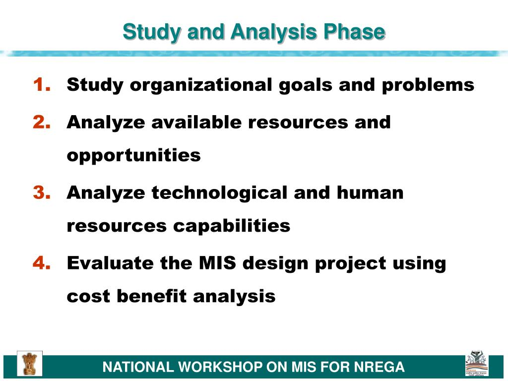 Study and Analysis Phase