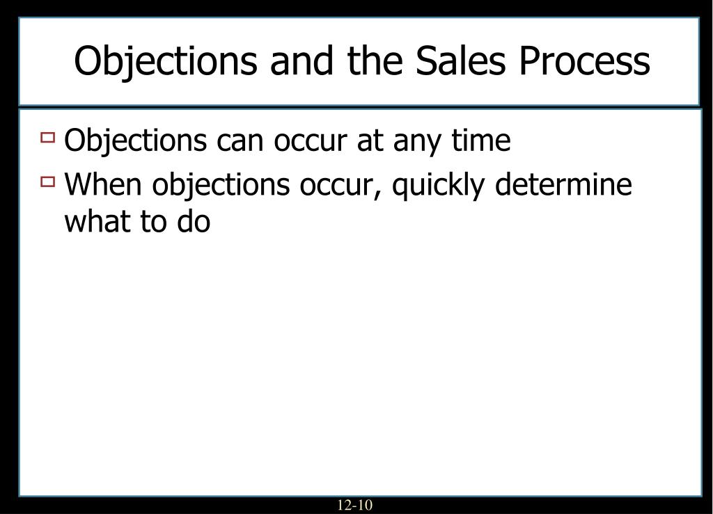 Objections and the Sales Process