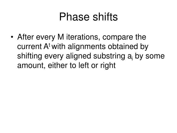Phase shifts