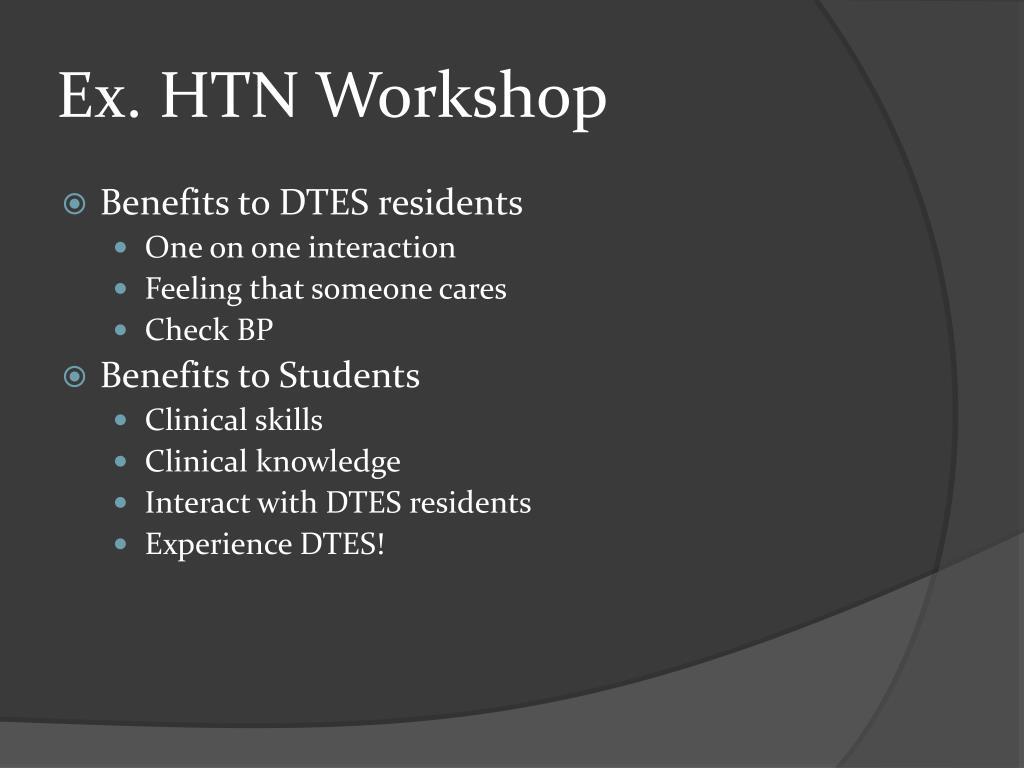Ex. HTN Workshop