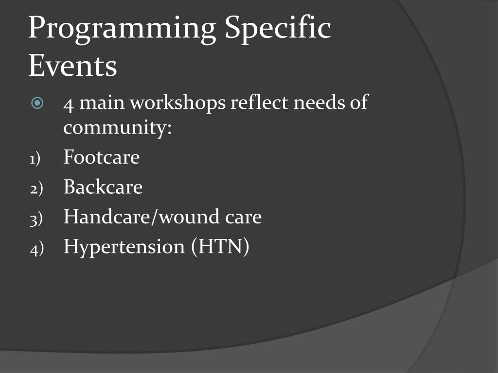 Programming Specific Events
