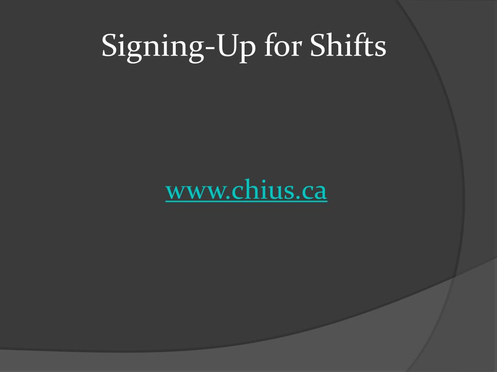 Signing-Up for Shifts