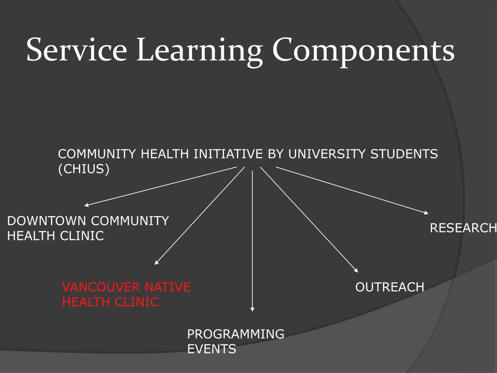 Service Learning Components