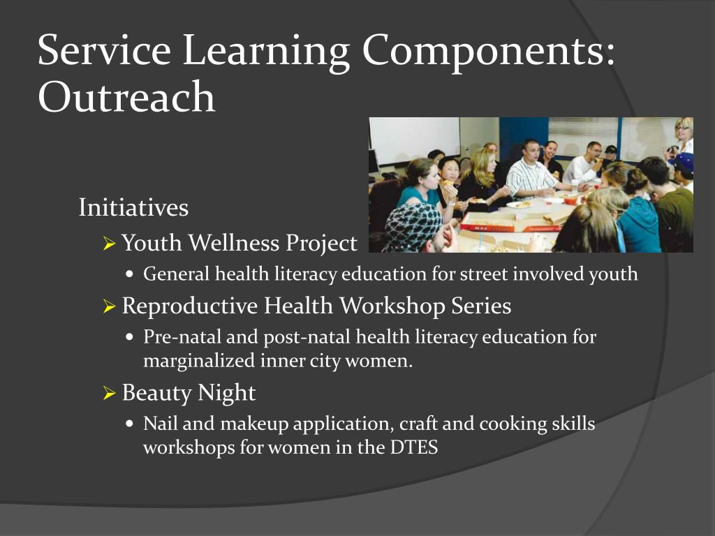 Service Learning Components: Outreach