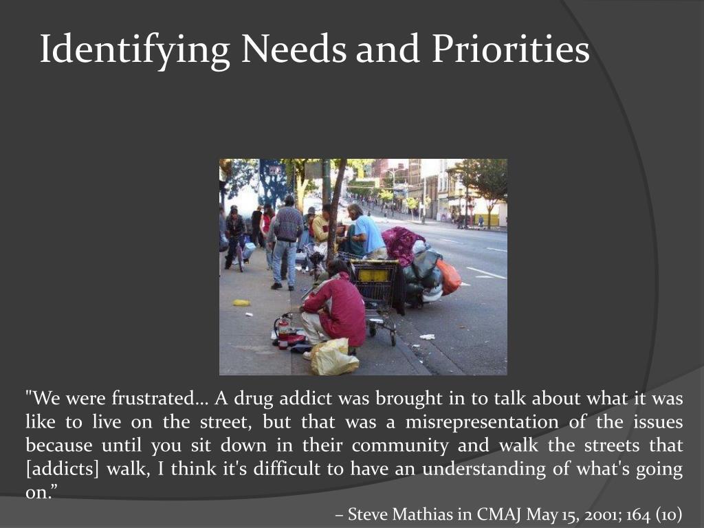 Identifying Needs and Priorities