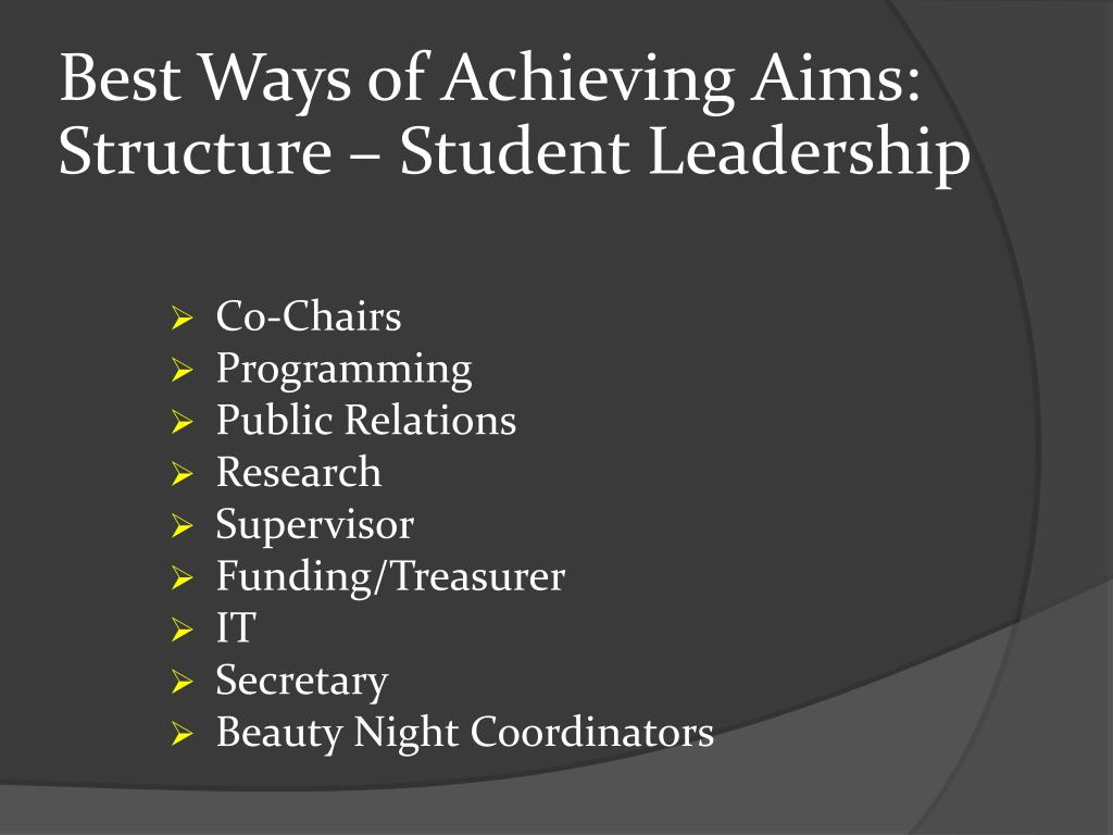 Best Ways of Achieving Aims: