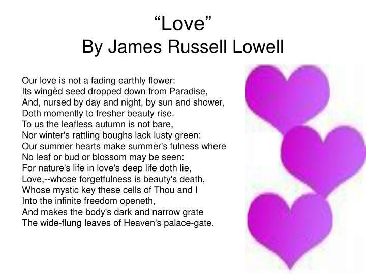 Love by james russell lowell