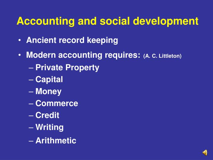 Accounting and social development