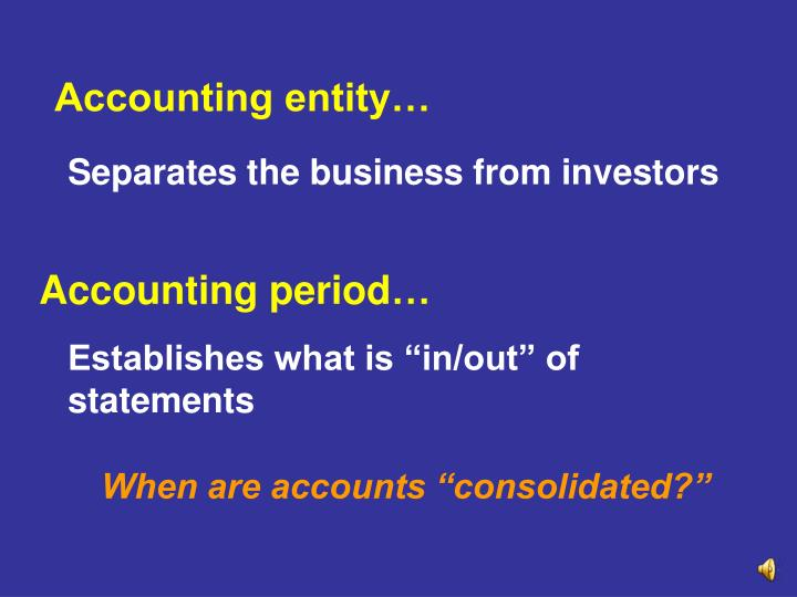 Accounting entity…