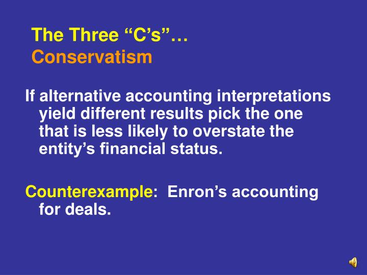 "The Three ""C's""…"
